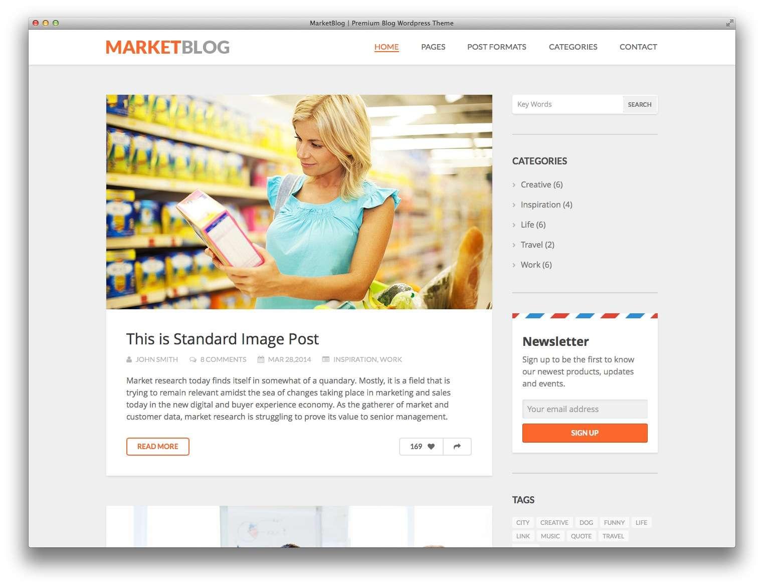 wordpress для MarketBlog