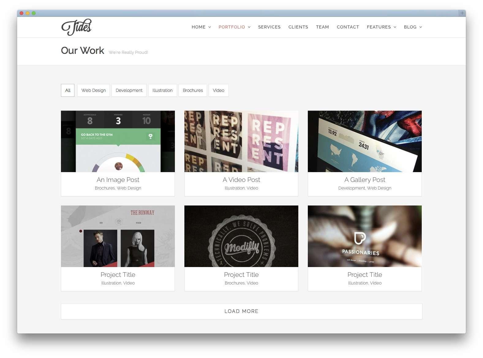Шаблоны WordPress для портфолио 201524