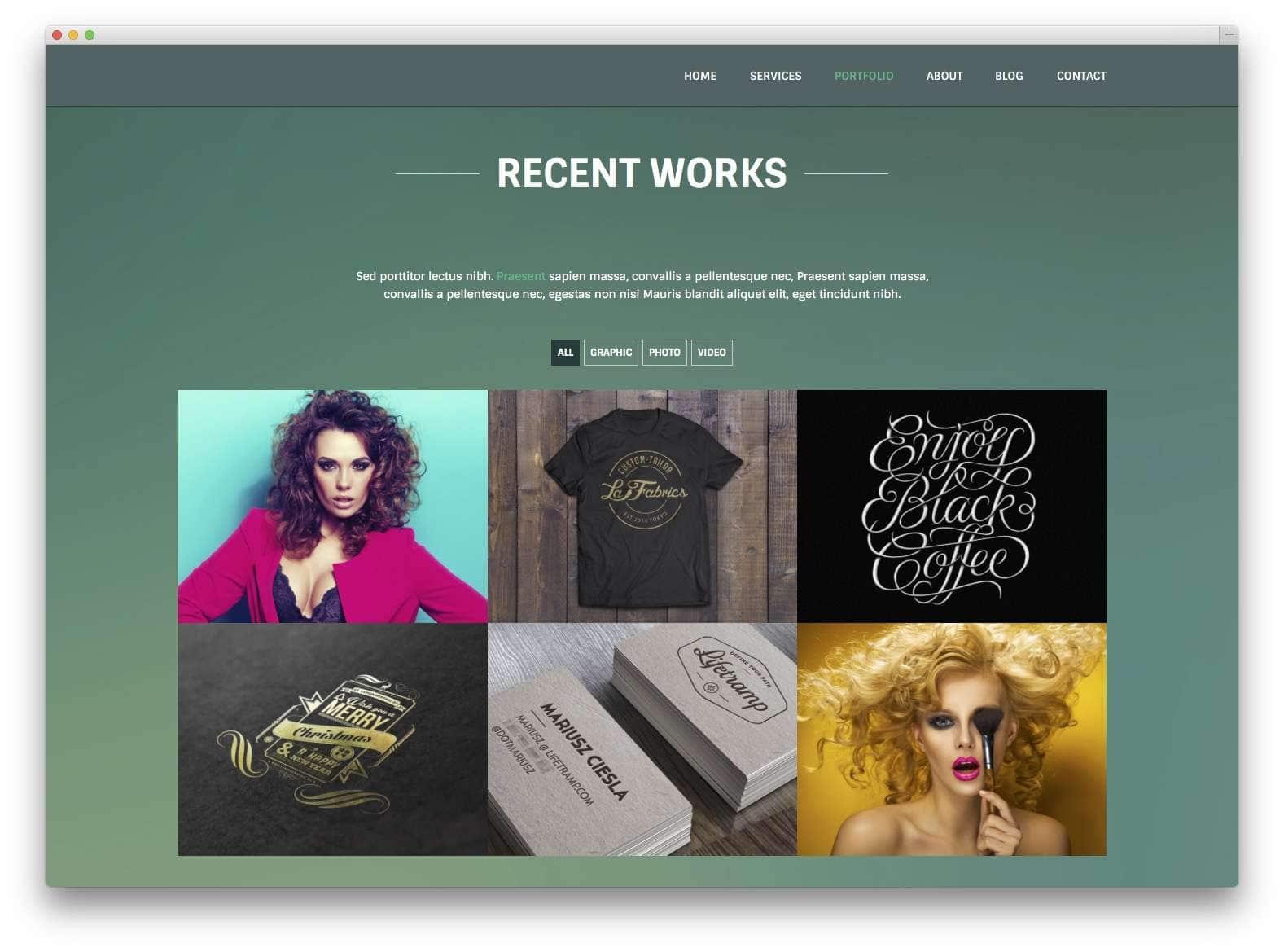 Шаблоны WordPress для портфолио 201528
