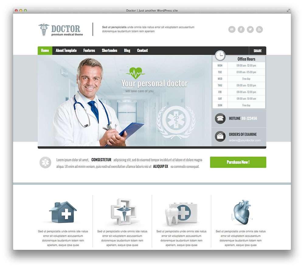 WordPress темы о здоровье 9