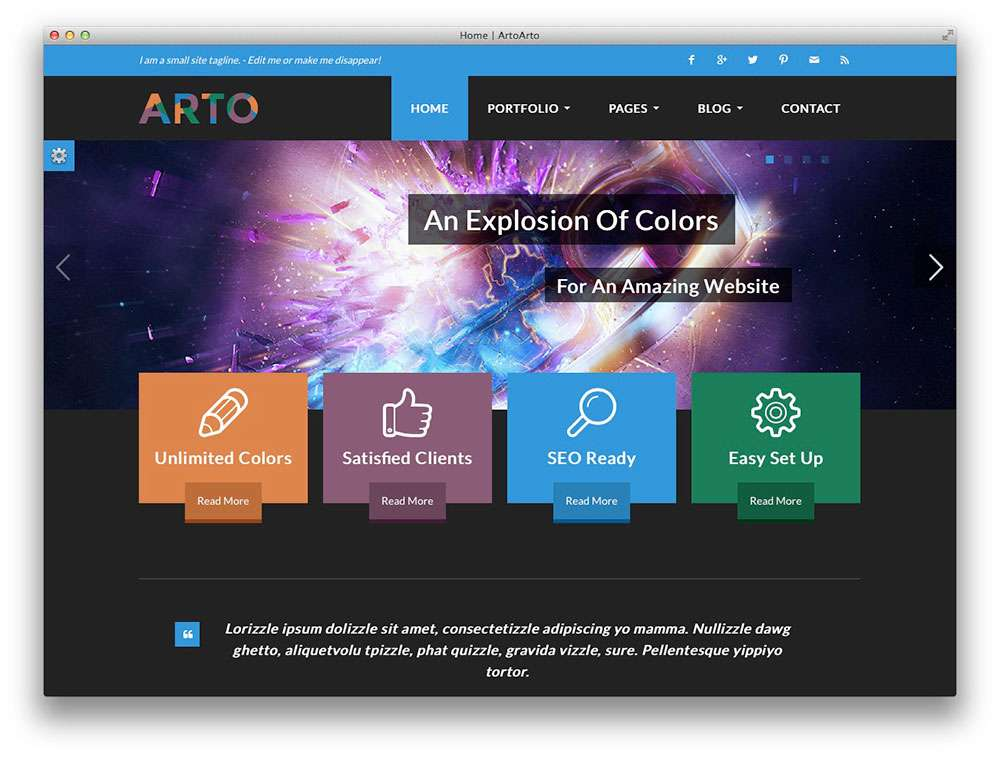 Wordpress плоский дизайн