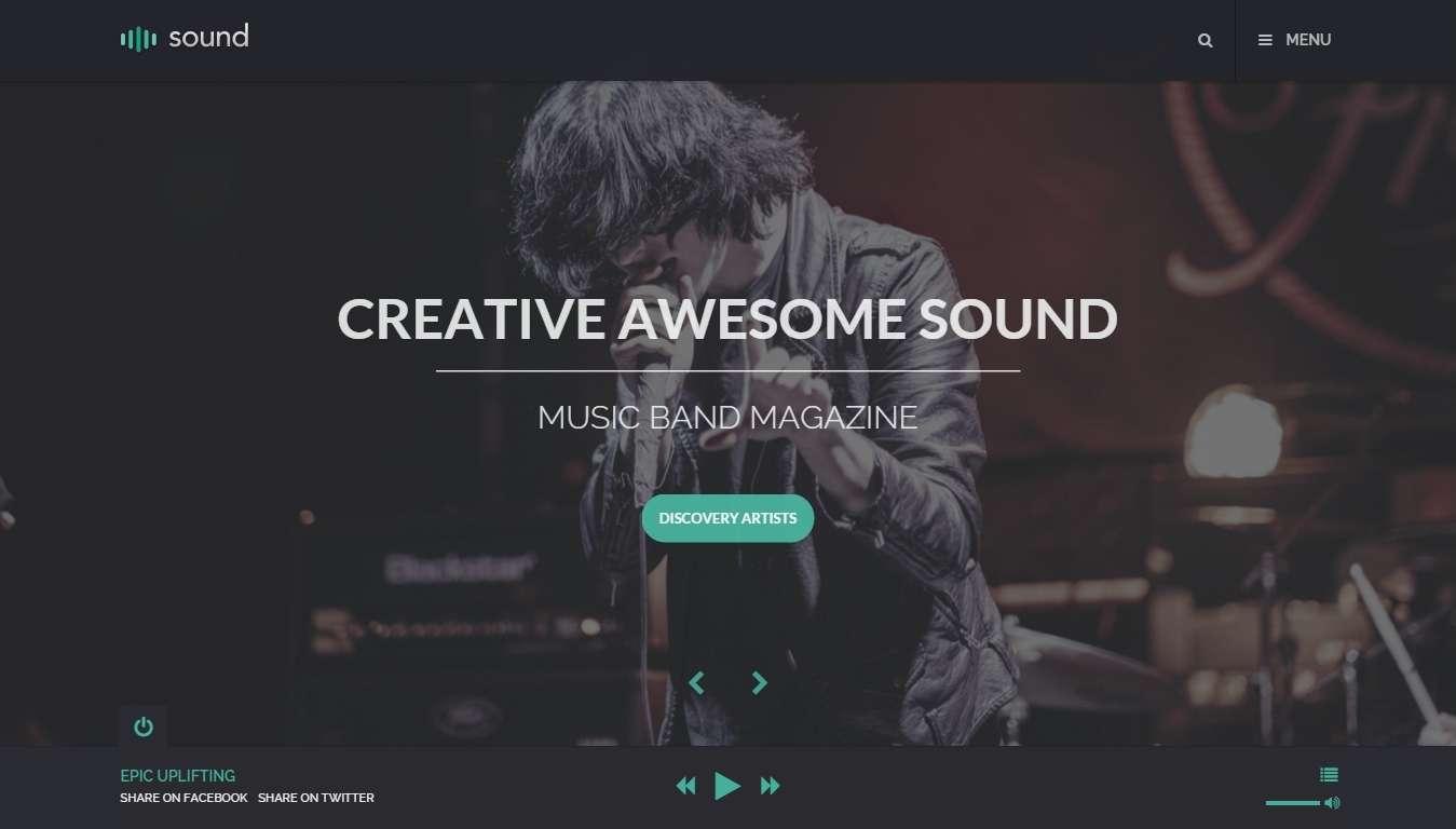 Сайт для солиста, музыканта, звезды