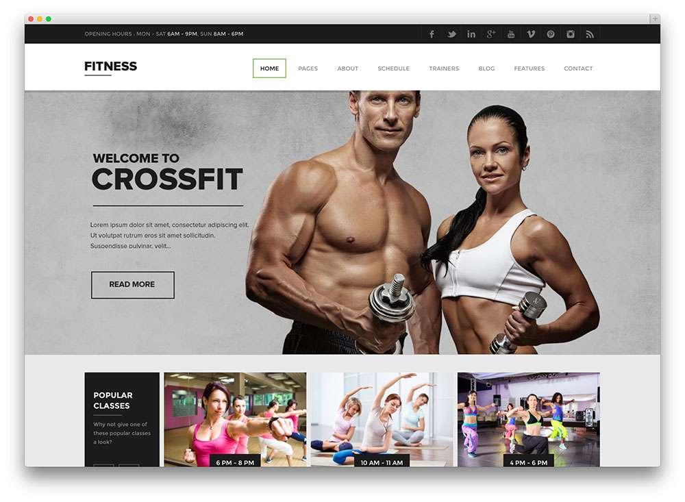 Красивые шаблоны Вордпресс для фитнес-клубов