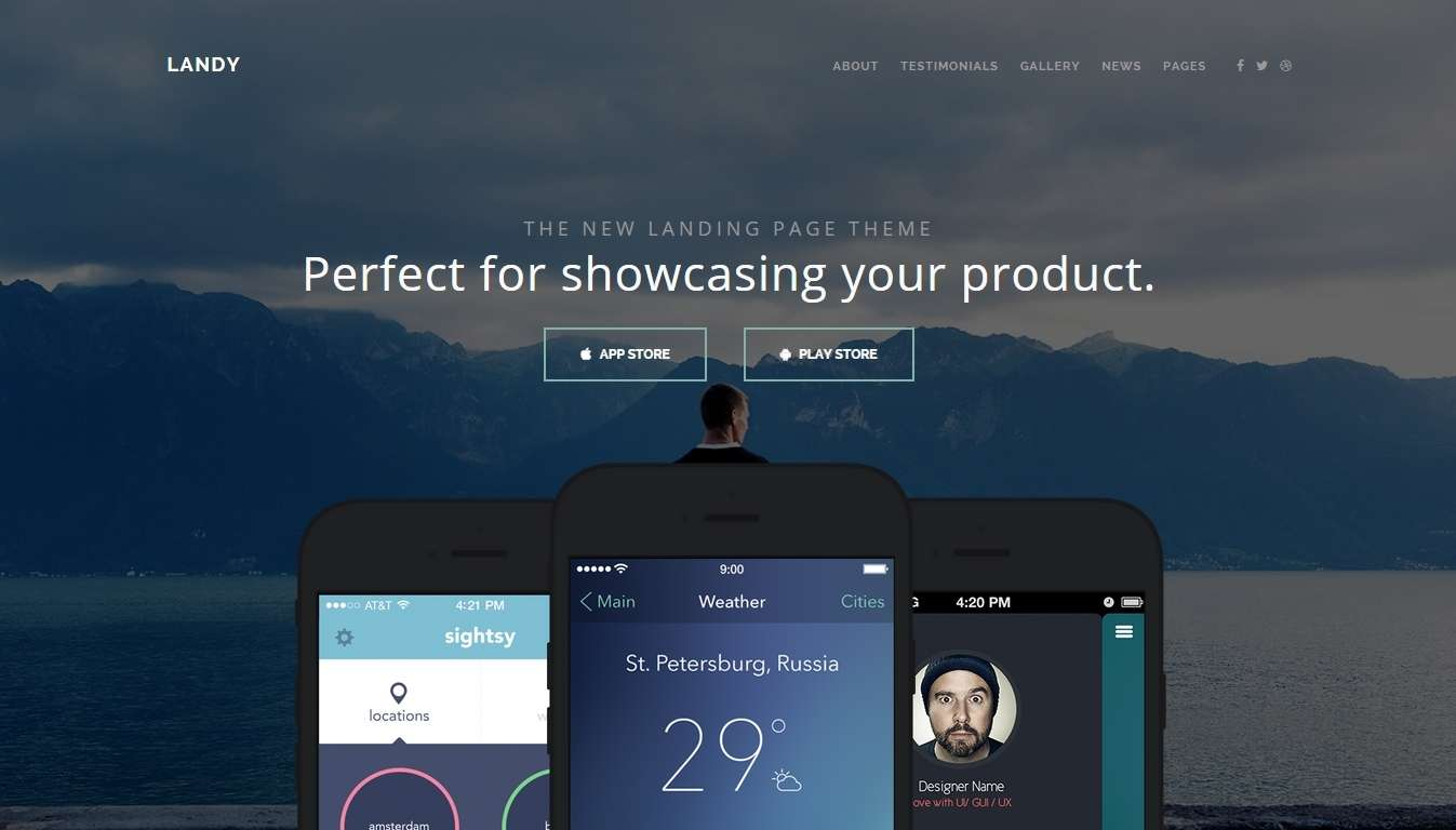 Landing Page WordPress Templates for Apps