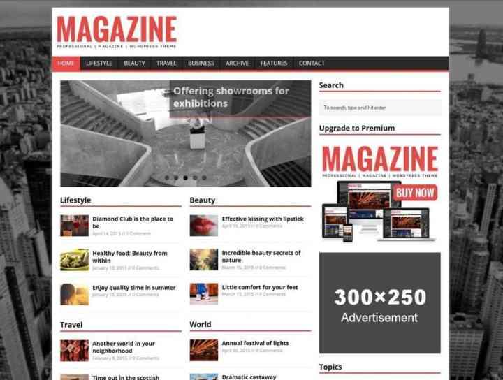Скачать бесплатные темы Вордпресс для журнала