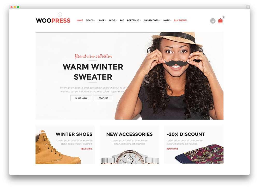 учшие Темы Вордпесс для Онлайн Магазина WooCommerce 2016