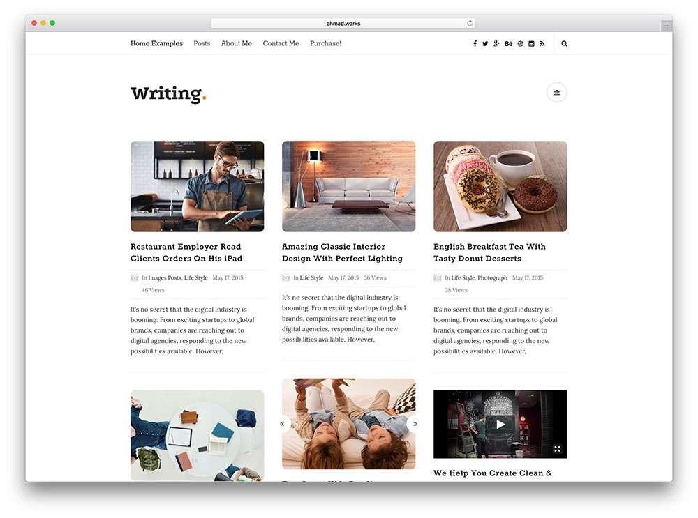 Простые шаблоны WordPress для сайта или блога 2016