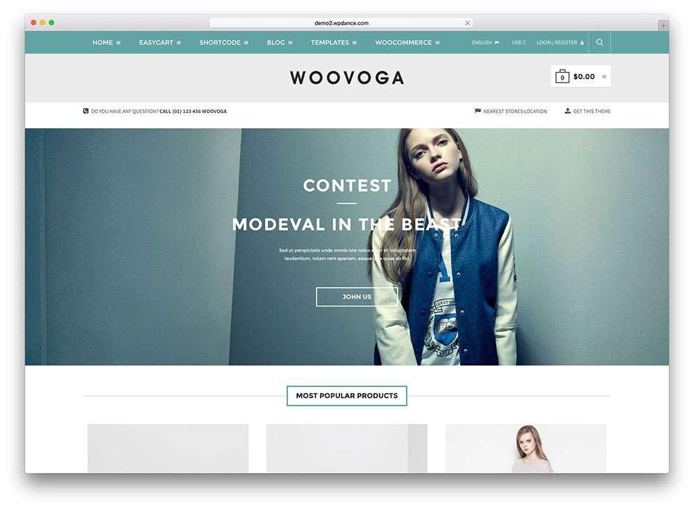 Простые eCommerce шаблоны WordPress для сайтов модных товаров 2015-2016