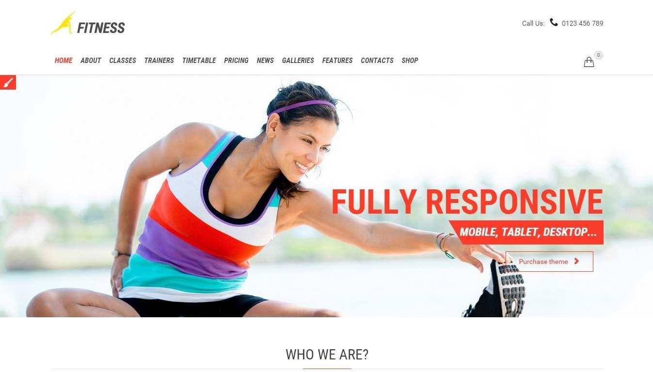 красивый сайт на wordpress темплейт- шаблон для фитнес клуба