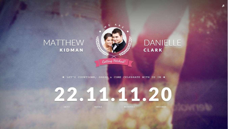 Свадебный сайт 2016-2017