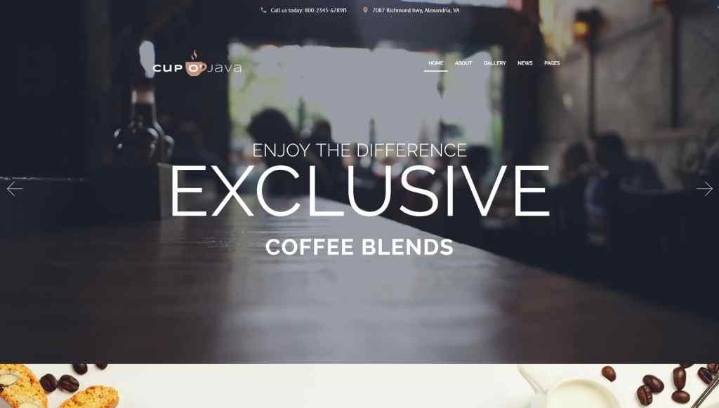 WordPress сайты для кондитерской или кофейни с красивым меню 03