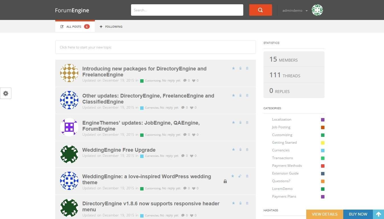 Адаптивные шаблоны WordPress для форума