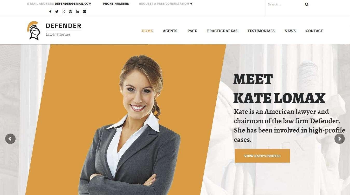 Красивые WordPress шаблоны для адвоката и юриста