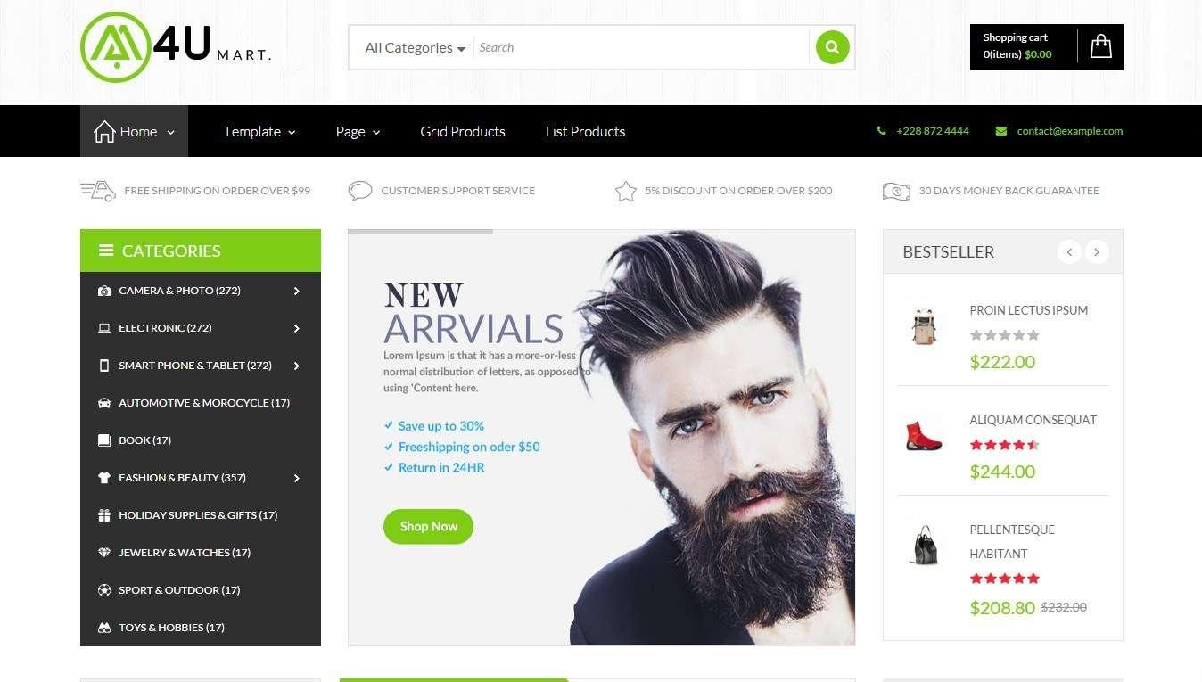 Joomla VirtueMart шаблоны интернет-магазина