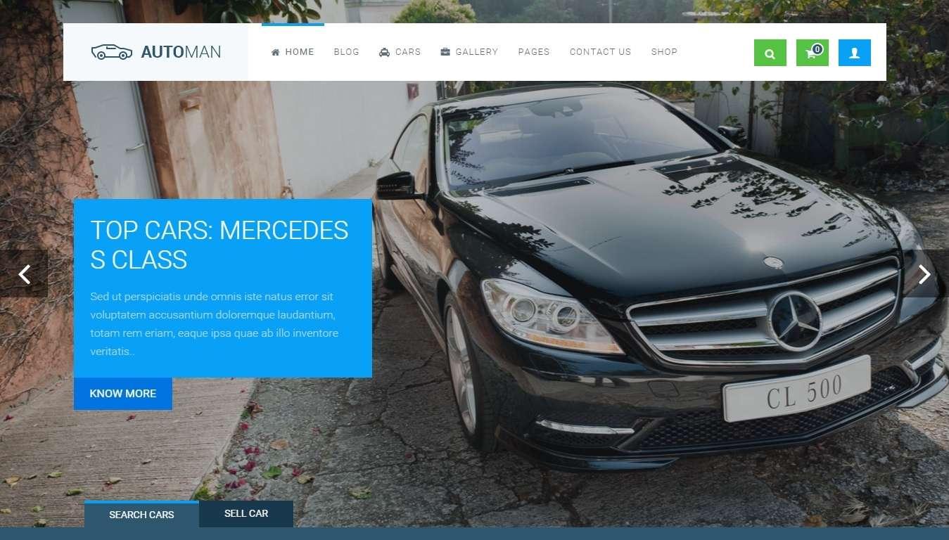 Продвинутый WordPress шаблон для автомобильных дилеров