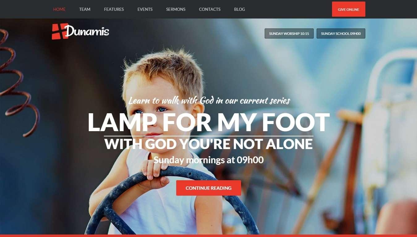 Христианский сайт на WordPress