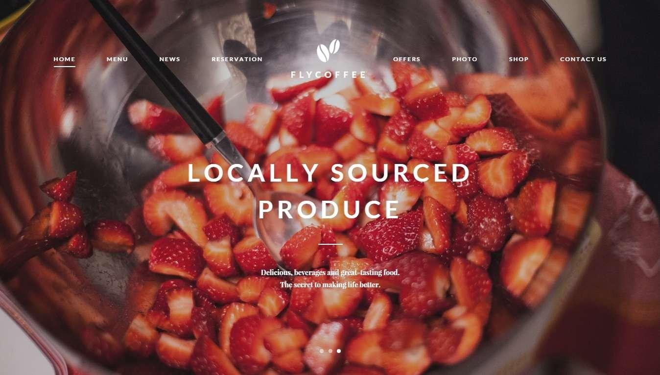 Wordpress шаблоны для ресторана и кафе