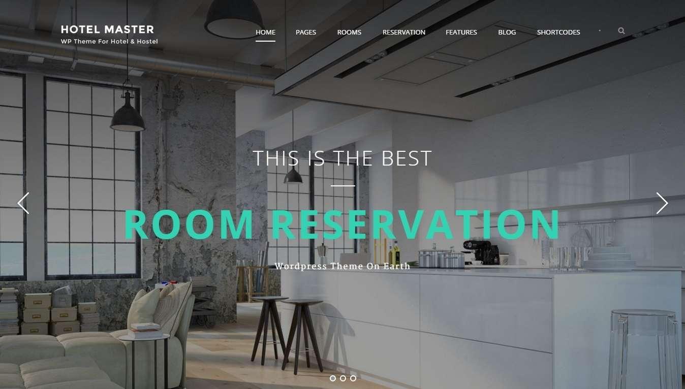 Шаблон сайта для Хостел и гостиницы