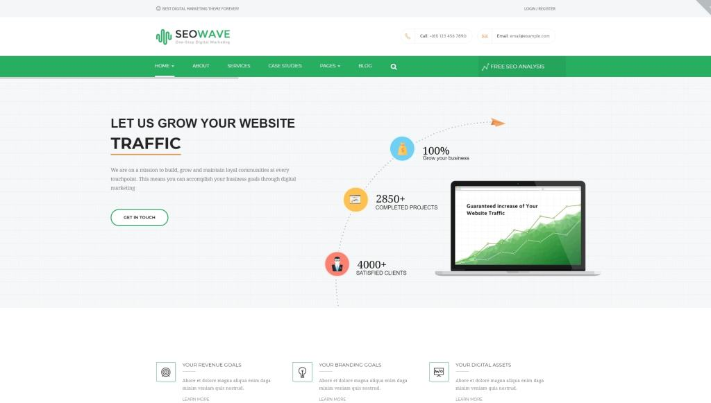 Минимализм шаблоны WordPress – Красивые сайты в стиле минимализм 02