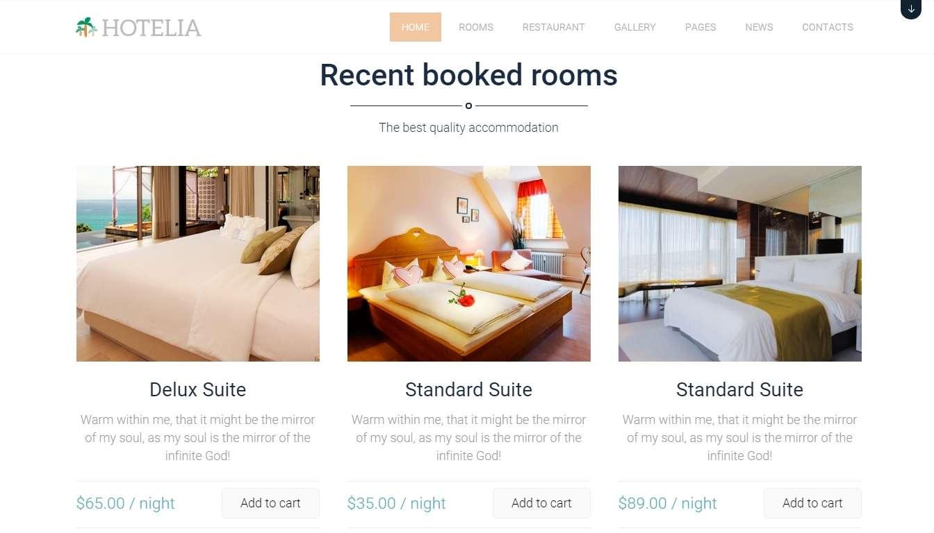 Hotelia - Премиум шаблон для гостиницы и отеля