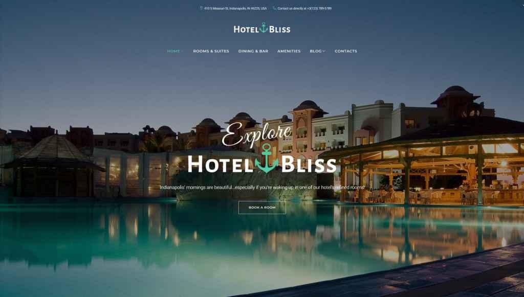 WordPress шаблоны для гостиницы и отеля c онлайн-бронированием 01