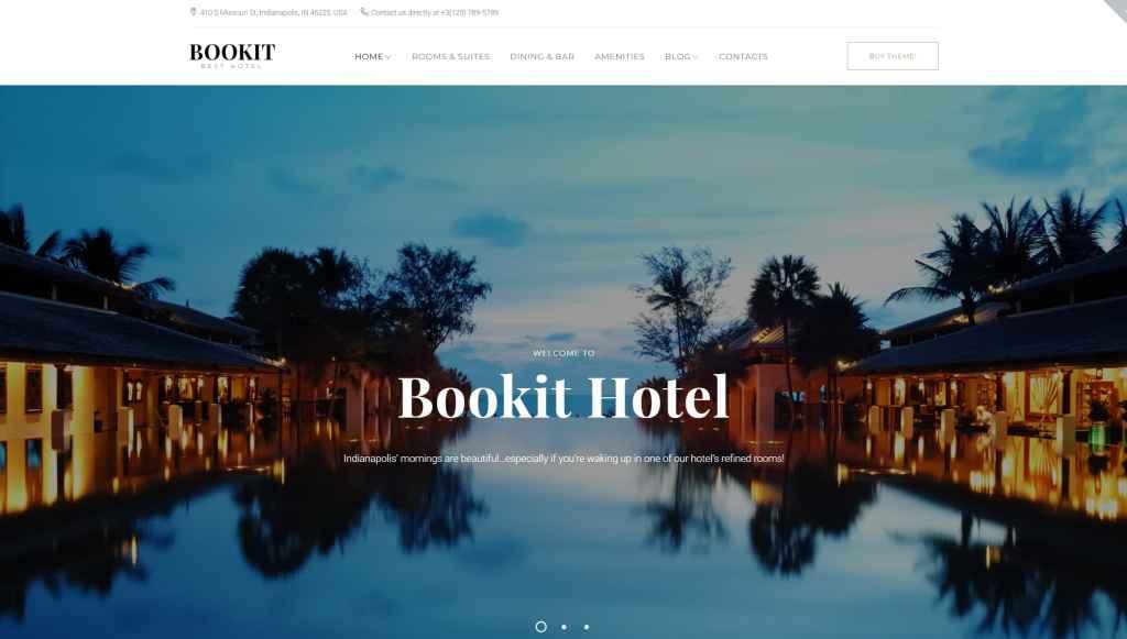 WordPress шаблоны для гостиницы и отеля c онлайн-бронированием 03