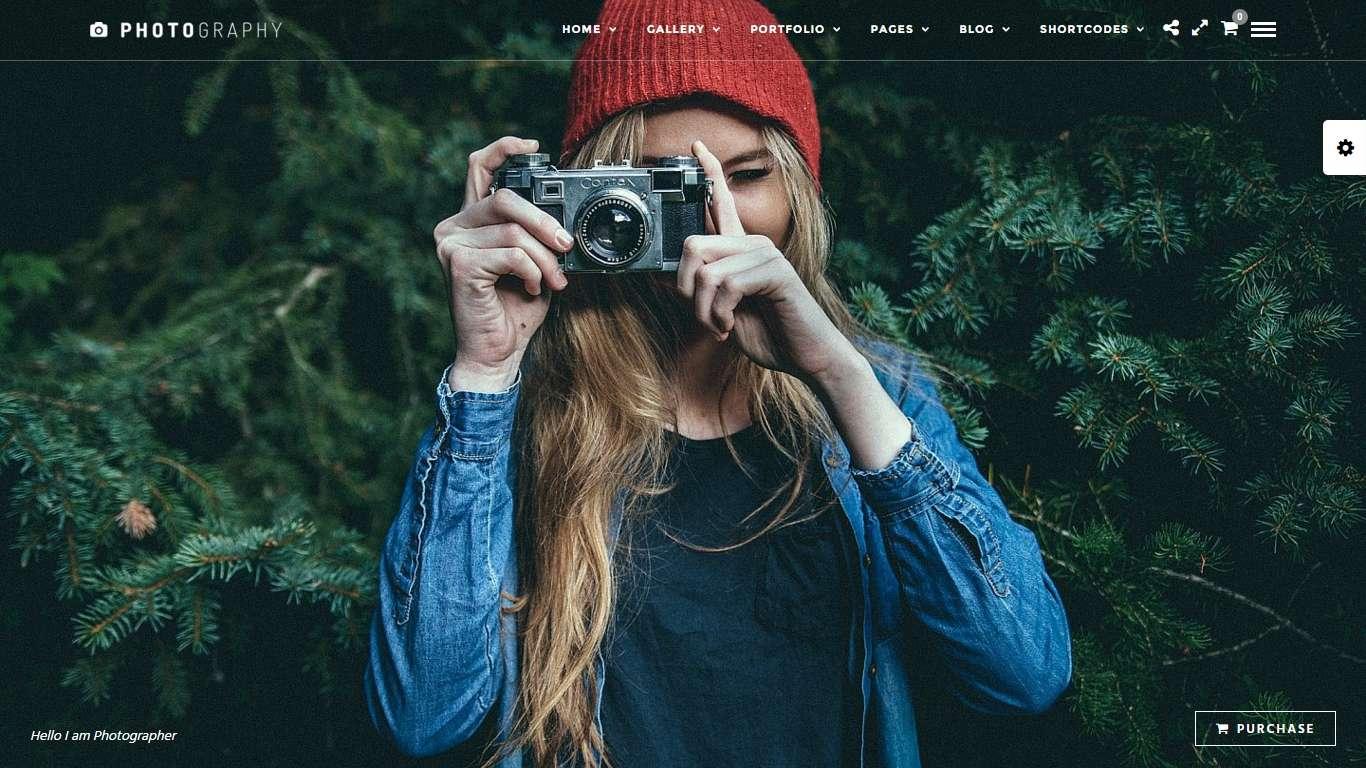 Адаптивные шаблоны сайтов для фотографа-блогера