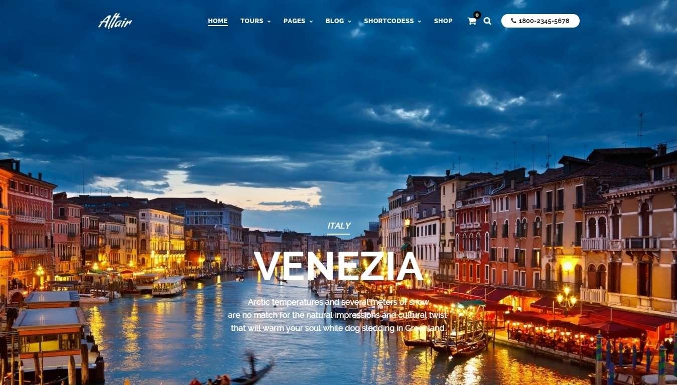 Шаблон сайта для тур агенства Готовый сайт для туристического агенства