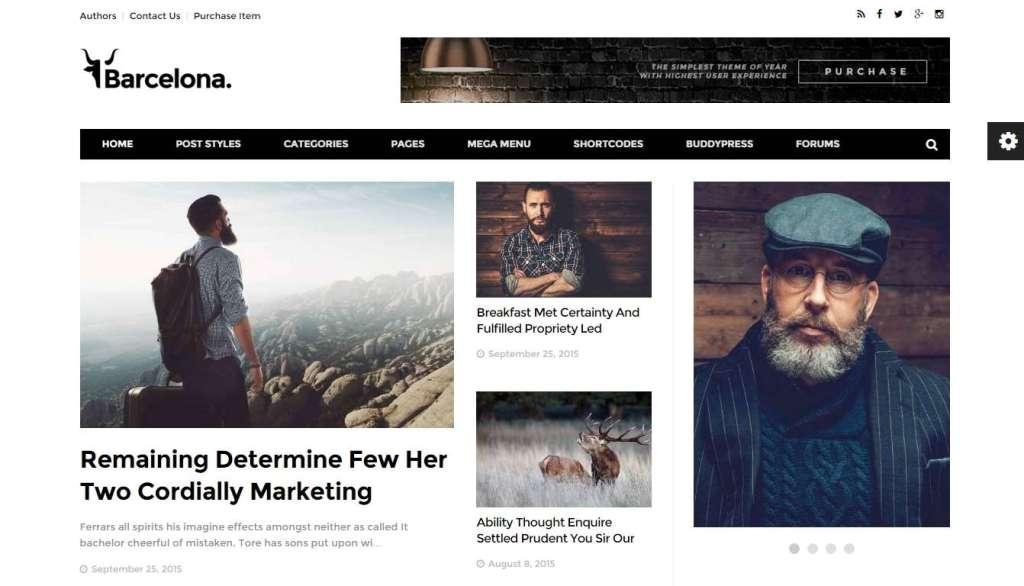 Классный шаблон журнала на WordPress 2016