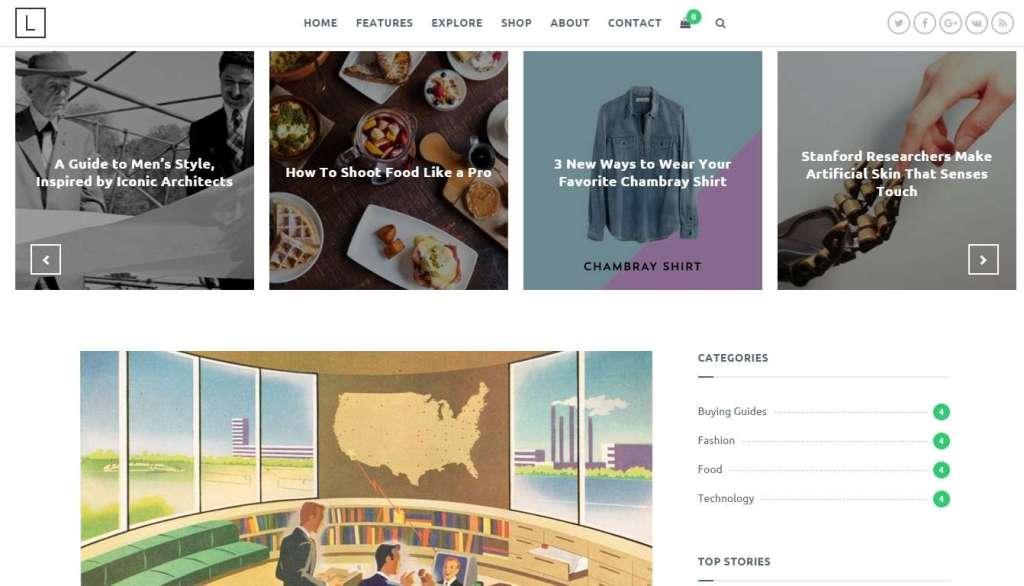 новые шаблоны WordPress 2016