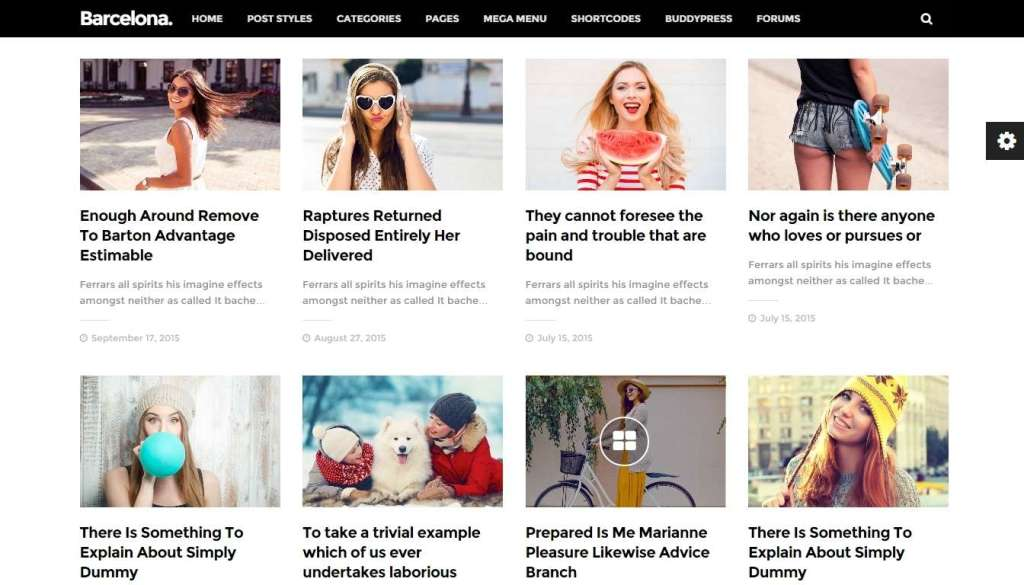 Шаблон журнала на WordPress 2016