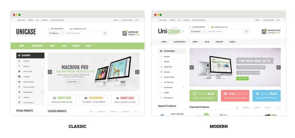 великолепный шаблон интернет магазин электроники для WordPress