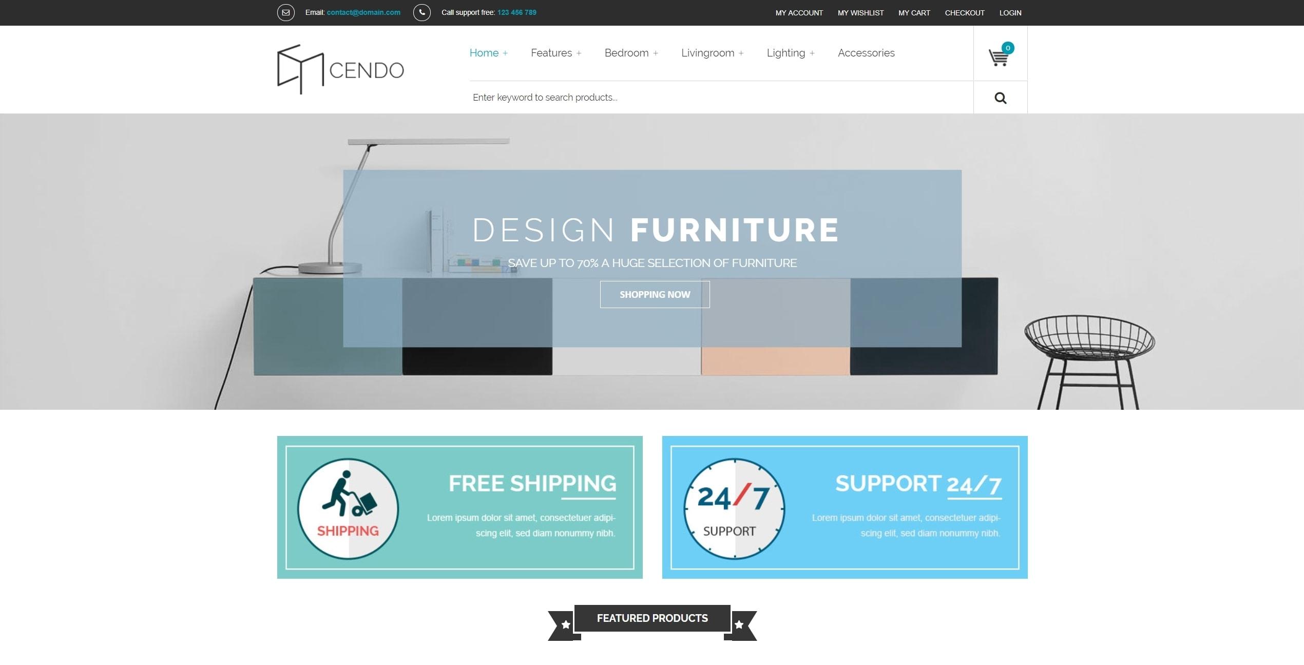 VG Cendo – шикарная тема для мебельного магазина и продажи кроватей на  WordPress. готовый интернет магазин на WordPress ... 3d7c408b1e7