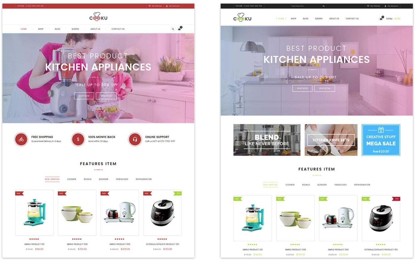 VG Cooku – потрясающая чистая тема кухонных товаров на WP. готовый интернет  магазин на WordPress купить ... 4719ffbbbf0