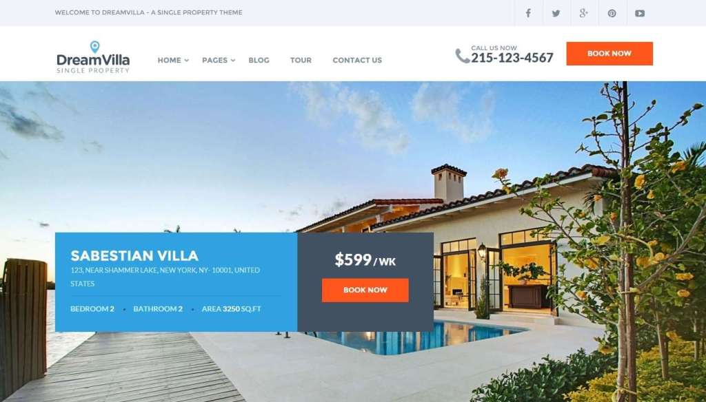 потрясающий лучший шаблон сайта недвижимость 2016