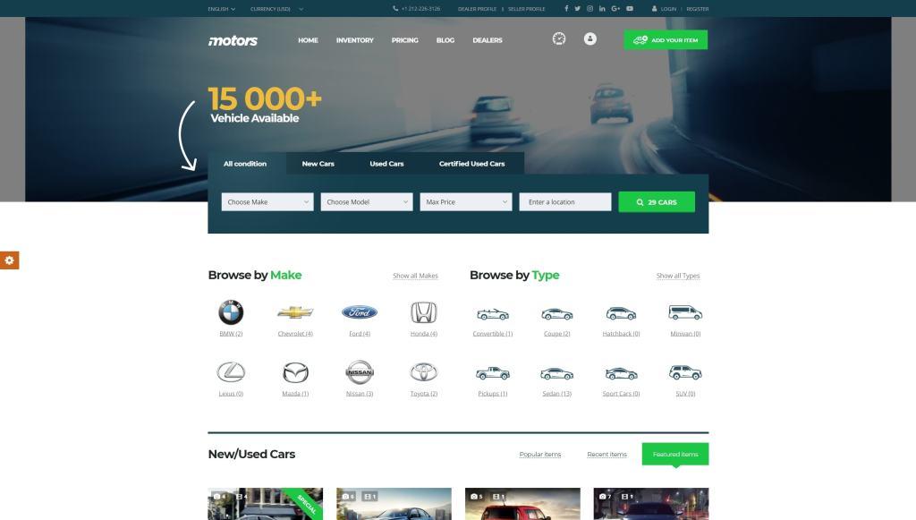 самые лучшие авто шаблоны WordPress для продажи авто, автомеханика и автомастерской 08