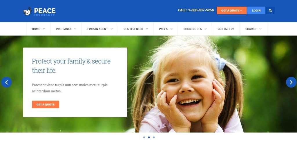 лучшие премиум WordPress Шаблоны страховой компании 2016 2