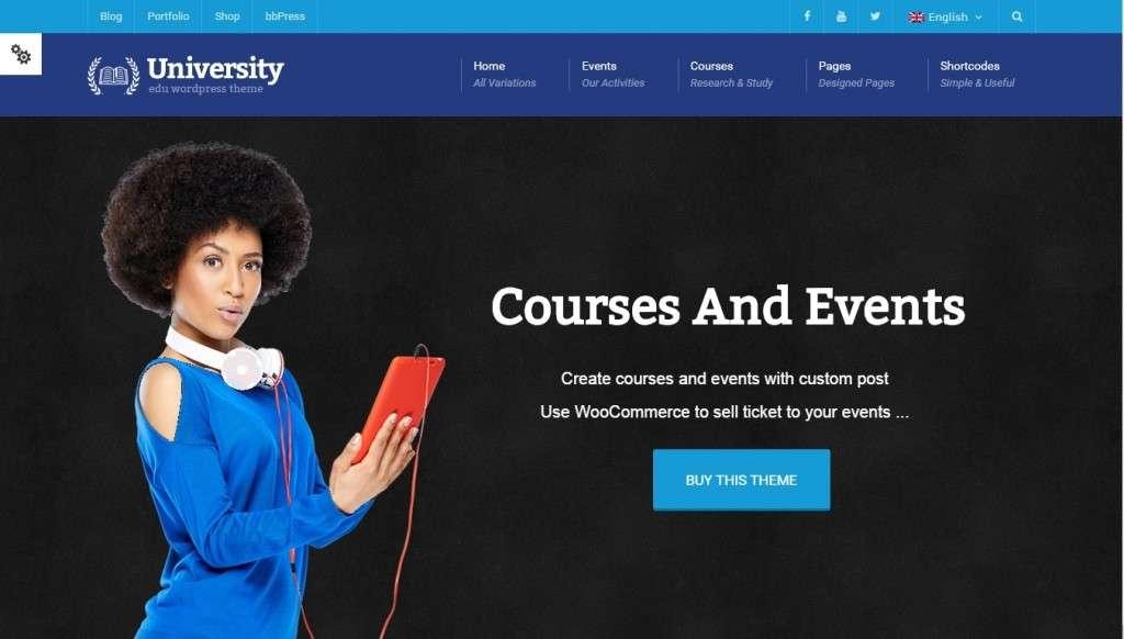 Шаблоны, чтобы создать образовательный сайт на WordPress