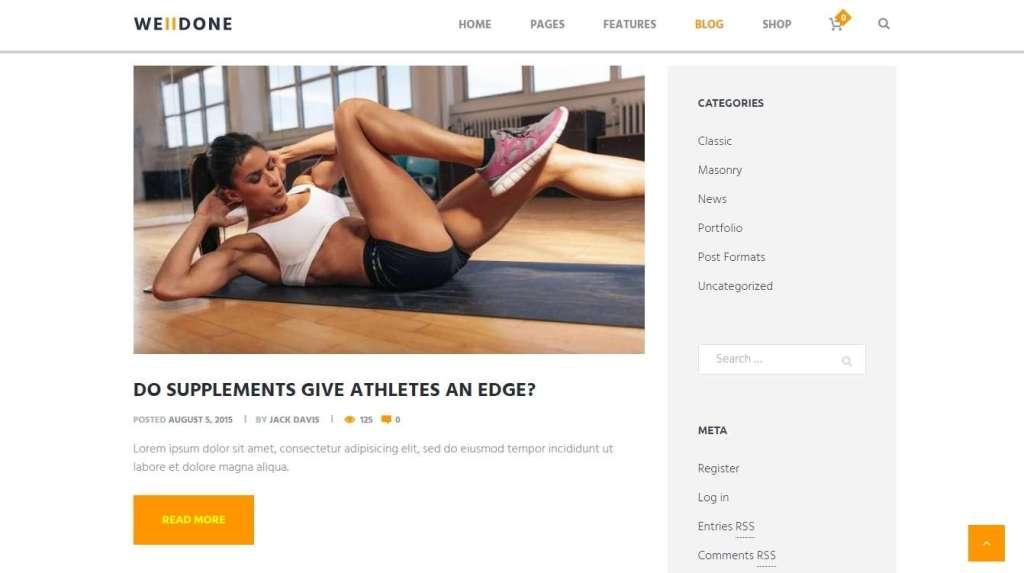 универсальный спортивное питание шаблон для интернет магазина 2017