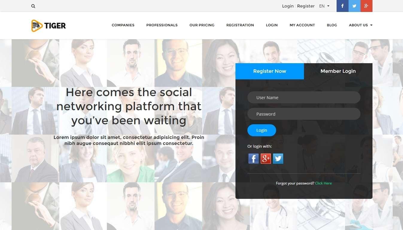 Шаблон социальной сети для хостинга создать рабочий стол на хостинг