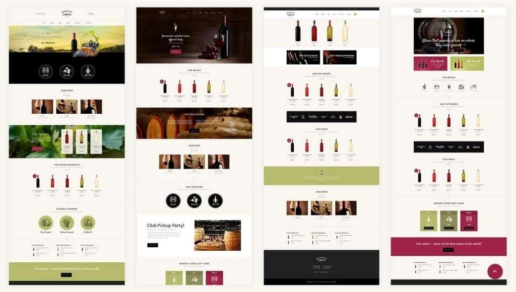 шаблон винный магазин - готовые Woocommerce интернет-магазины для виноделов 1