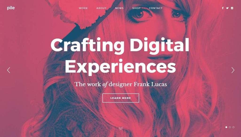 лучшие шаблоны сайта дизайн студии 2017 02