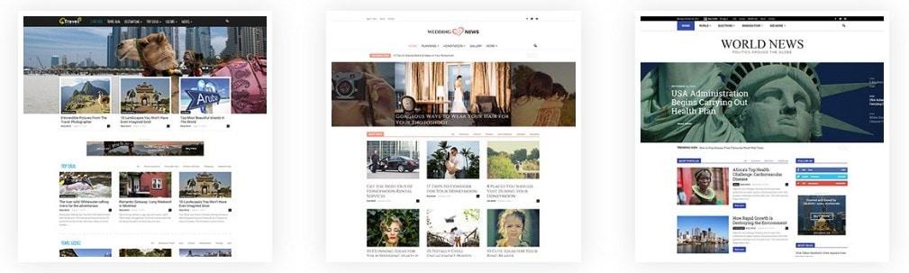 красивые шаблоны готовых веб сайтов