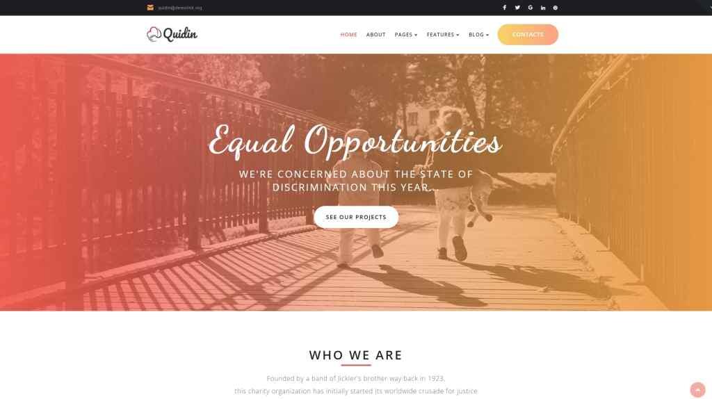 WordPress темы для некоммерческих организаций и благотворительности 03