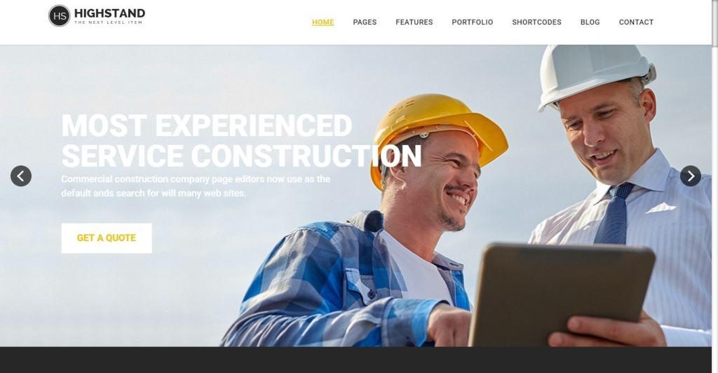 шаблоны Joomla строительная компания с блогом и магазином 1