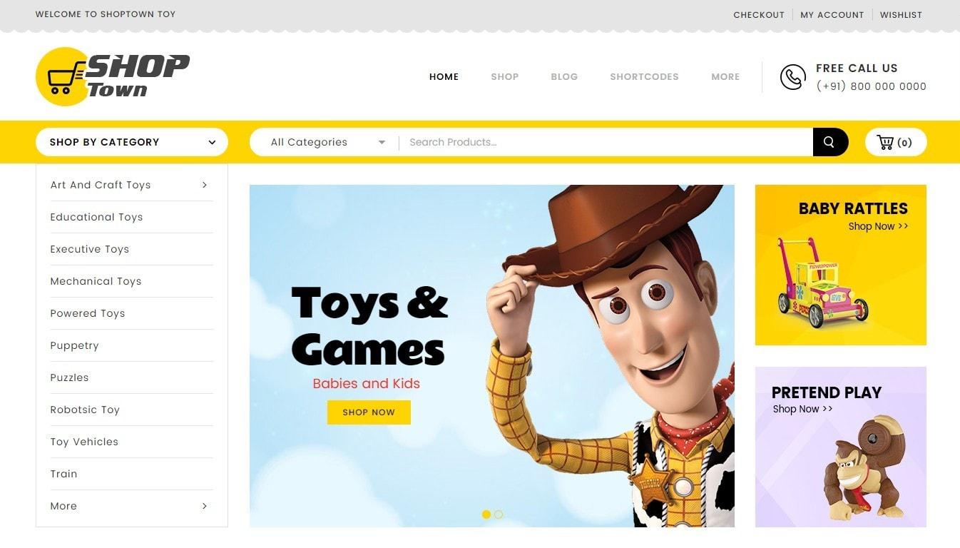 Shop Town – многозадачная тема WooCommerce для простого магазина 860cd86db11