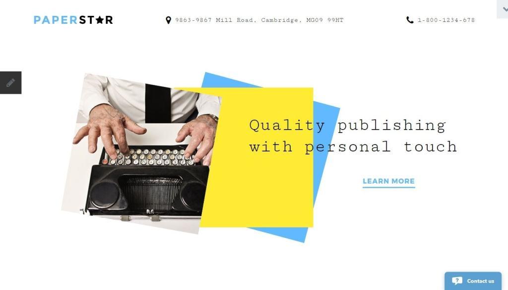 Joomla шаблон книги: готовый сайт с поддержкой магазина 3