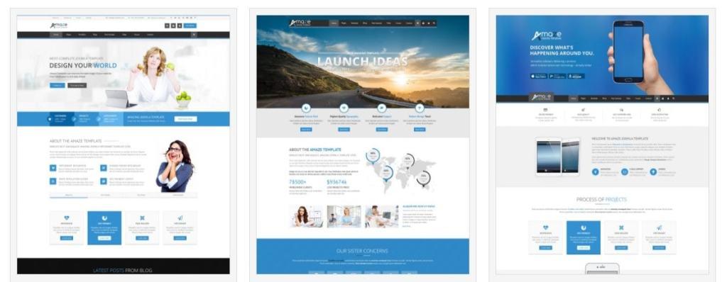 Joomla шаблон с демо данными бизнес красивый сайт за час 3