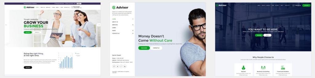 шаблон сайта деньги: сайты для консалтинга, бухгалтерии и аудита 1