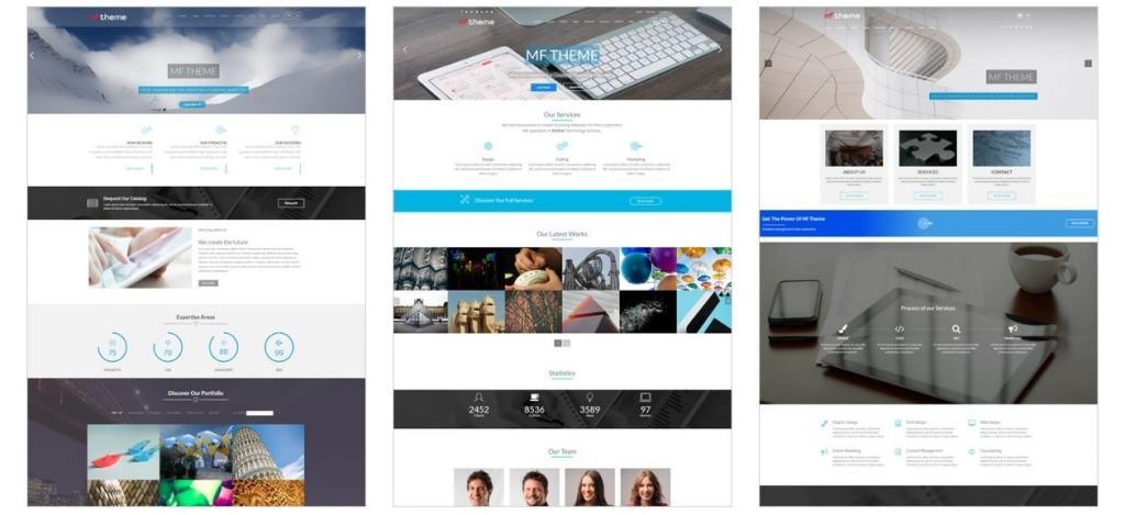 шаблон сайта онлайн для блога, бизнеса, портфолио, магазина и каталога 02